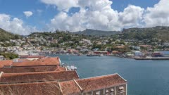 The Carenage of St. George's from elevated position, Grenada, Windward Islands, West Indies, Caribbean, Central America