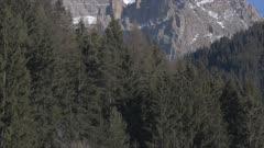 View of Piz Boe Mountain from Canazei on sunny day at Christmas, Province of Trento, Trentino-Alto Adige/Sudtirol, Italian Dolomites, Italy, Europe