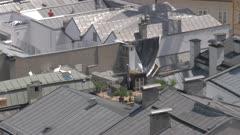 Salzburg rooftops from Museum der Moderne Monchsberg, UNESCO World Heritage Site, Salzburg, Austria, Europe