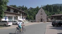 Village chapel to church, Fieberbrunn, Austrian Alps, Tyrol, Austria, Europe