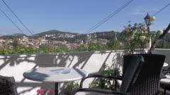 Cavtat from hilltop cafe, Cavtat, Dubrovnik Riviera, Croatia, Europe