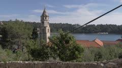 Cavtat from hilltop, Cavtat, Dubrovnik Riviera, Croatia, Europe