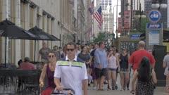 People on Michigan Avenue, Chicago, Illinois, United States of America, North America