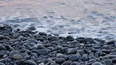 Pebble stone at Kaikoura Beach, New Zealand.