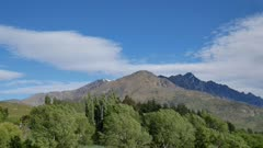 Mount Remarkable and surrounding view from Old Lover Shotover Bridge, Queenstown