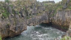 Natural rock at Punakaiki