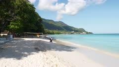 Bon Vallon Beach morning Seychelles