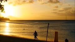 Bon Vallon Beach sunset timelapse Seychelles