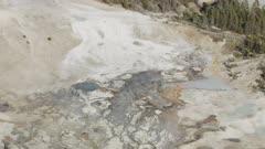 8k Aerial Yellowstone Geyser