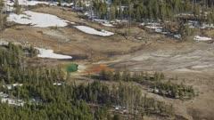 8k Aerial Reveal  Yellowstone Geyser
