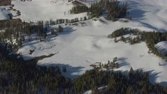 8k wide snowy landscape Yellowstone