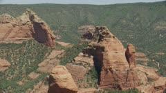8k red rocks peaks in desert mountains