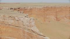 8k aerial red cliffs in painted desert