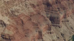 8k aerial Grand Canyon red cliff walls Colorado River