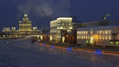 Moscow Russia City View at Night