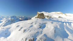 Snowy Cliff Edge and Parallax Effect