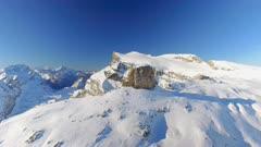 Glacier Ski Resort Aerial Flyover