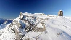Dangerous Cliff Edge and Rock Mountain
