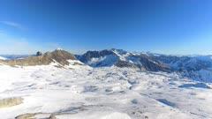 Ski Resort and Mountain Range