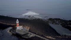Gardur Lighthouse Iceland Aerial View