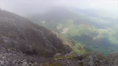 Cliff Edge and Foggy Valley
