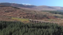 Aerial View of the Old Viaduct in Fleet Western Scotland