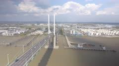 Suspension Bridge and Vehicles
