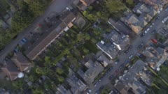 Birds Eye View of English Streets, Houses and Gardens
