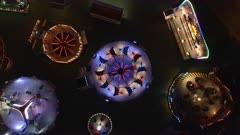 Aerial View of a Fairground Ride