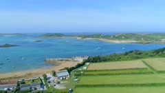 Old Grimsby Port Aerial Overview on the Scilly Isles