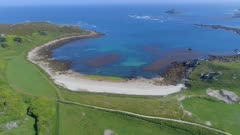 Secluded Beach and Bay on the Isles of Scilly