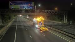 Night Time Motorway Closure Road Works