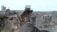 Ore Processing Plant Piling Rocks
