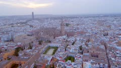 Seville in the Evening from the Air