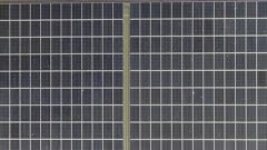 Aerial View of Solar Panels installed on a Roof