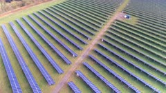 Solar Power Station Aerial View