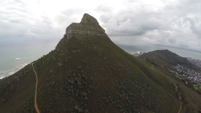 Scenic view of Lion's Head Mountain near Cape Town