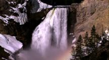 Water Scenics - Yellowstone Falls, Rainbow In Mist