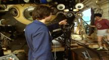 Titanic Excursion Preparations - Chief Pilot Inspects Camera And Lighting On Mir