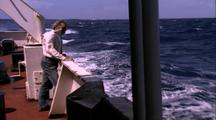 Titanic Excursion Preparations - Man At Rail Watching Waves
