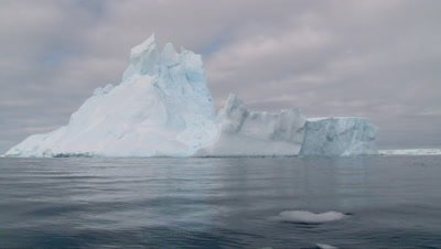 View from water on Iceberg in the Ross sea, Antarctica