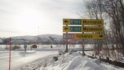 Winter in Kirkenes,Northern Norway,Russian border.