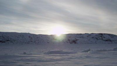 Winter in Kirkenes,Northern Norway,near Russian border.