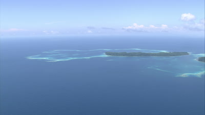 Approaching shallow reef outside of island