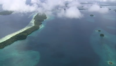 long island below clouds