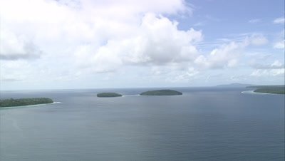 approaching a pair of small islands