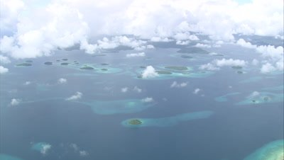 Sky high view of islands