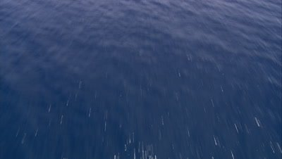 High angle view travelling over ocean