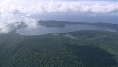 View of island and clouds