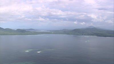 View of island coast
